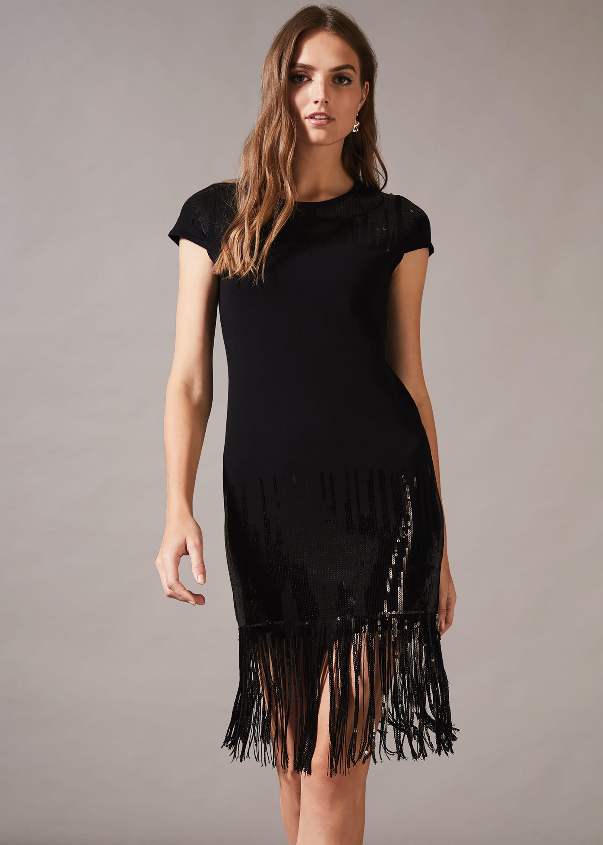 Phase Eight Women Ferne Fringe Sequin Dress