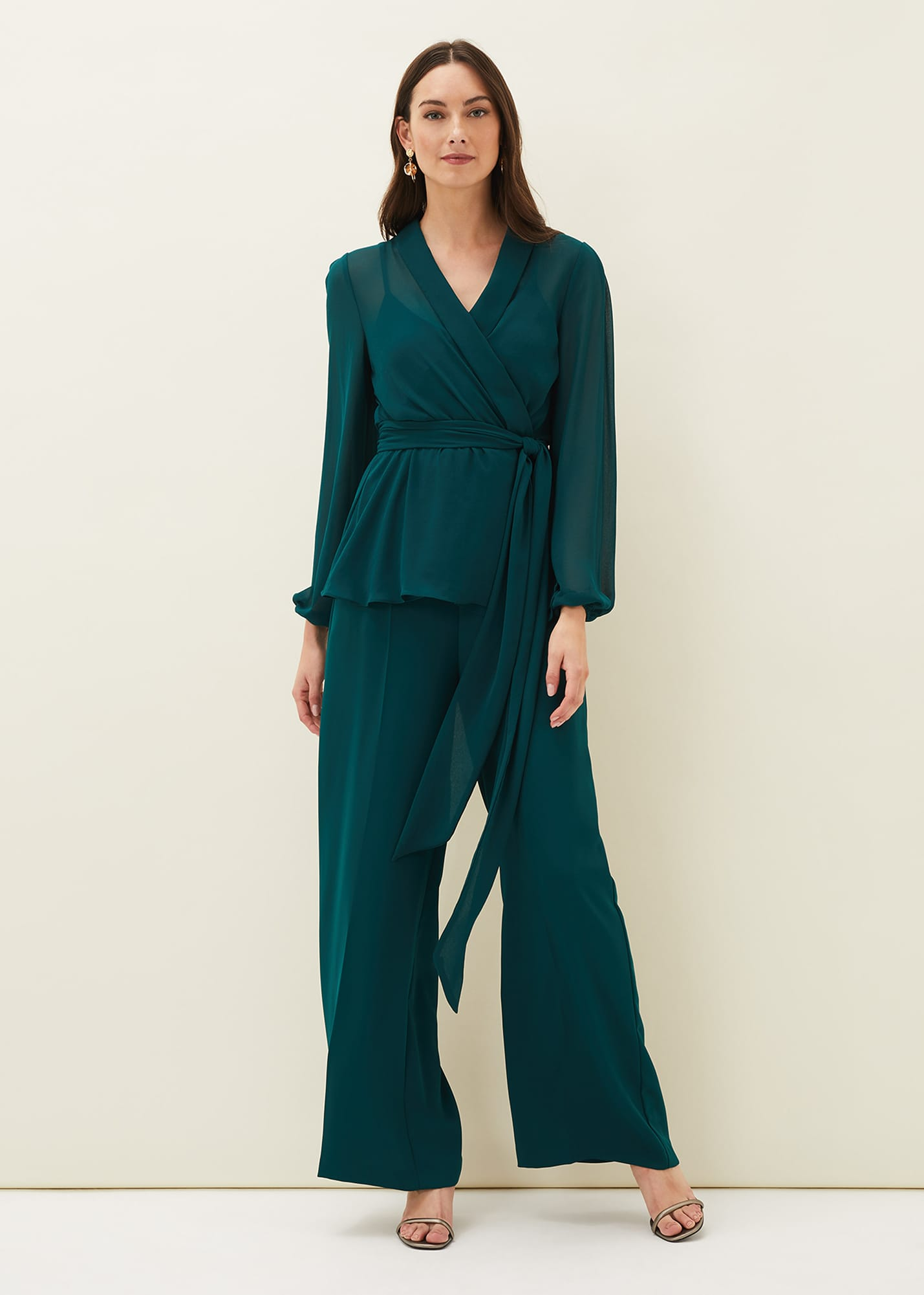 Phase Eight Women Florentine Wide Leg Co-ord Trousers