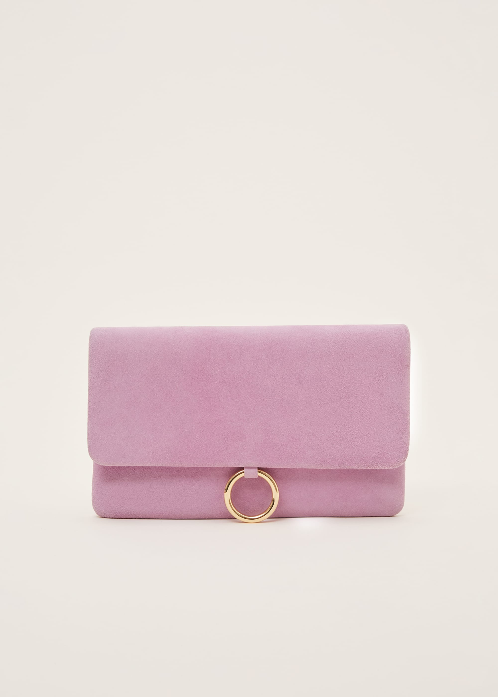 Phase Eight Women Giselle Suede Clutch Bag