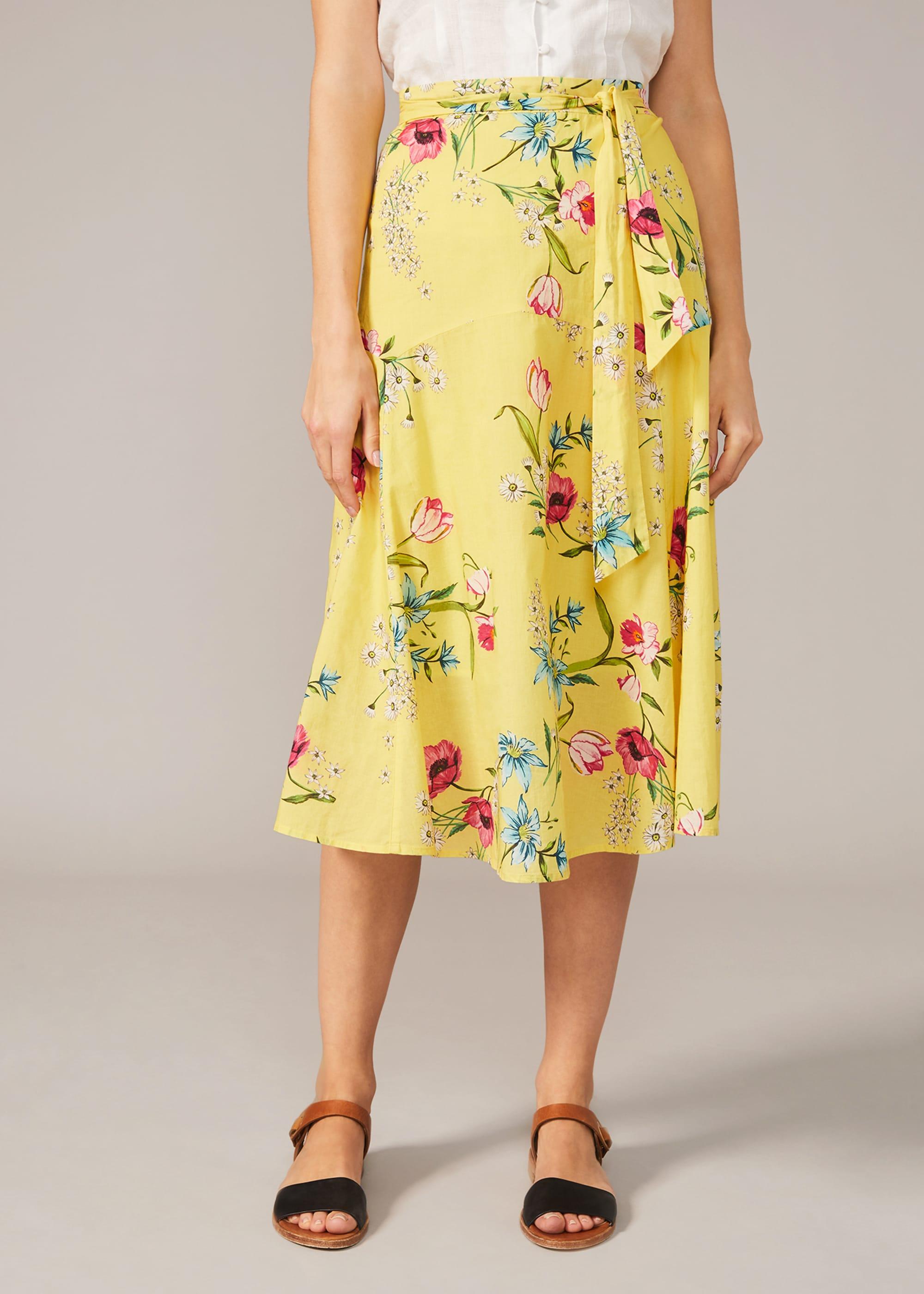 Phase Eight Women Louma Floral Cotton Midi Skirt