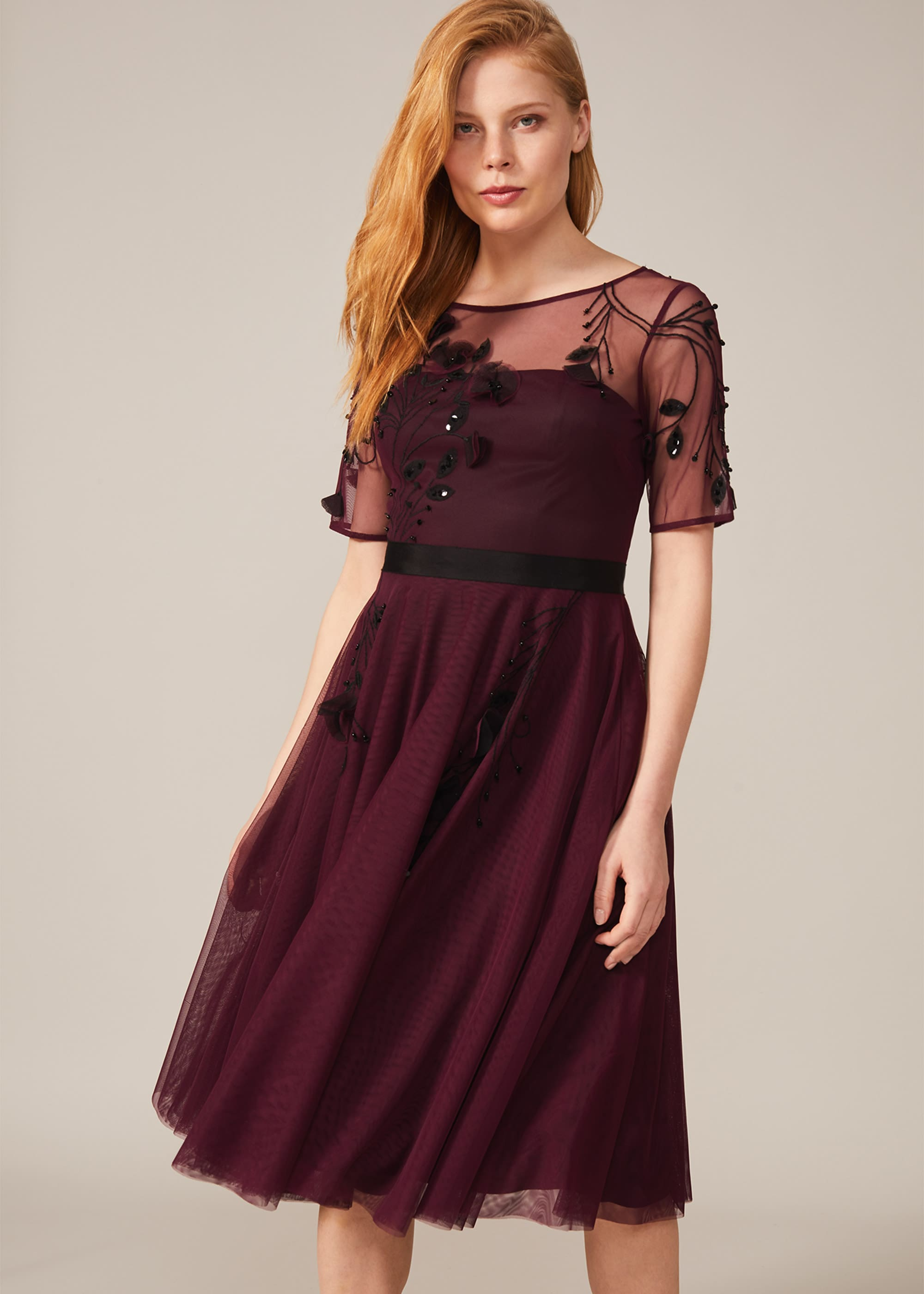 Phase Eight Women Felicia Embroidered Tulle Dress