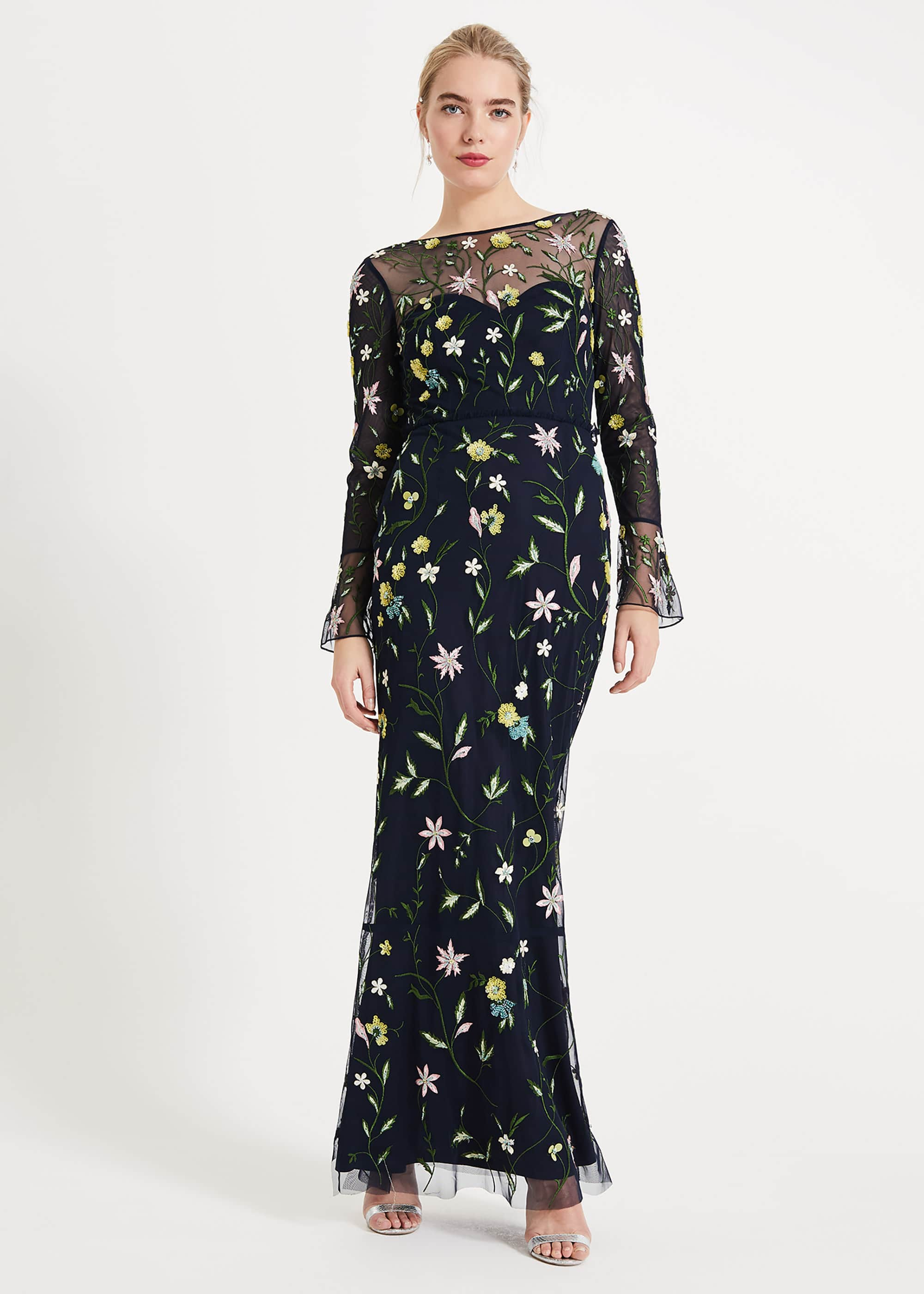 Phase Eight Women Mallory Embroidered Maxi Dress