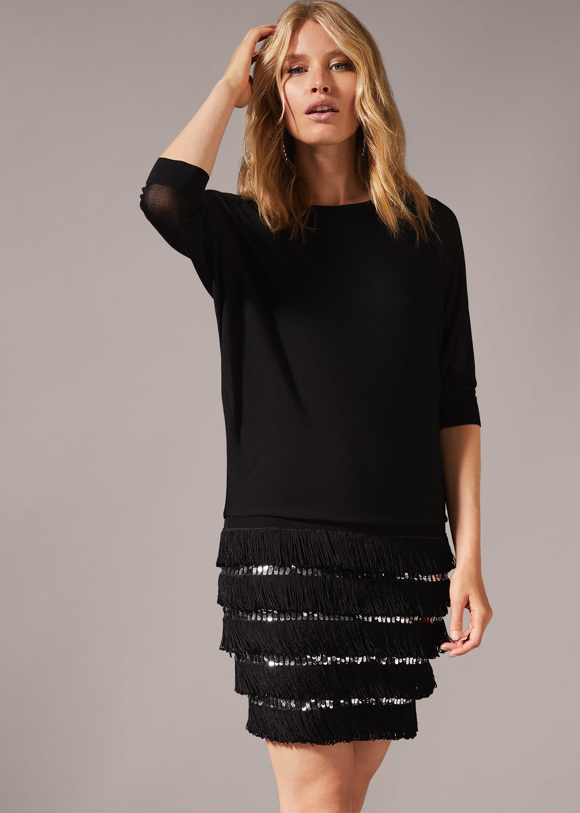 Phase Eight Women Fae Fringe Sequin Dress