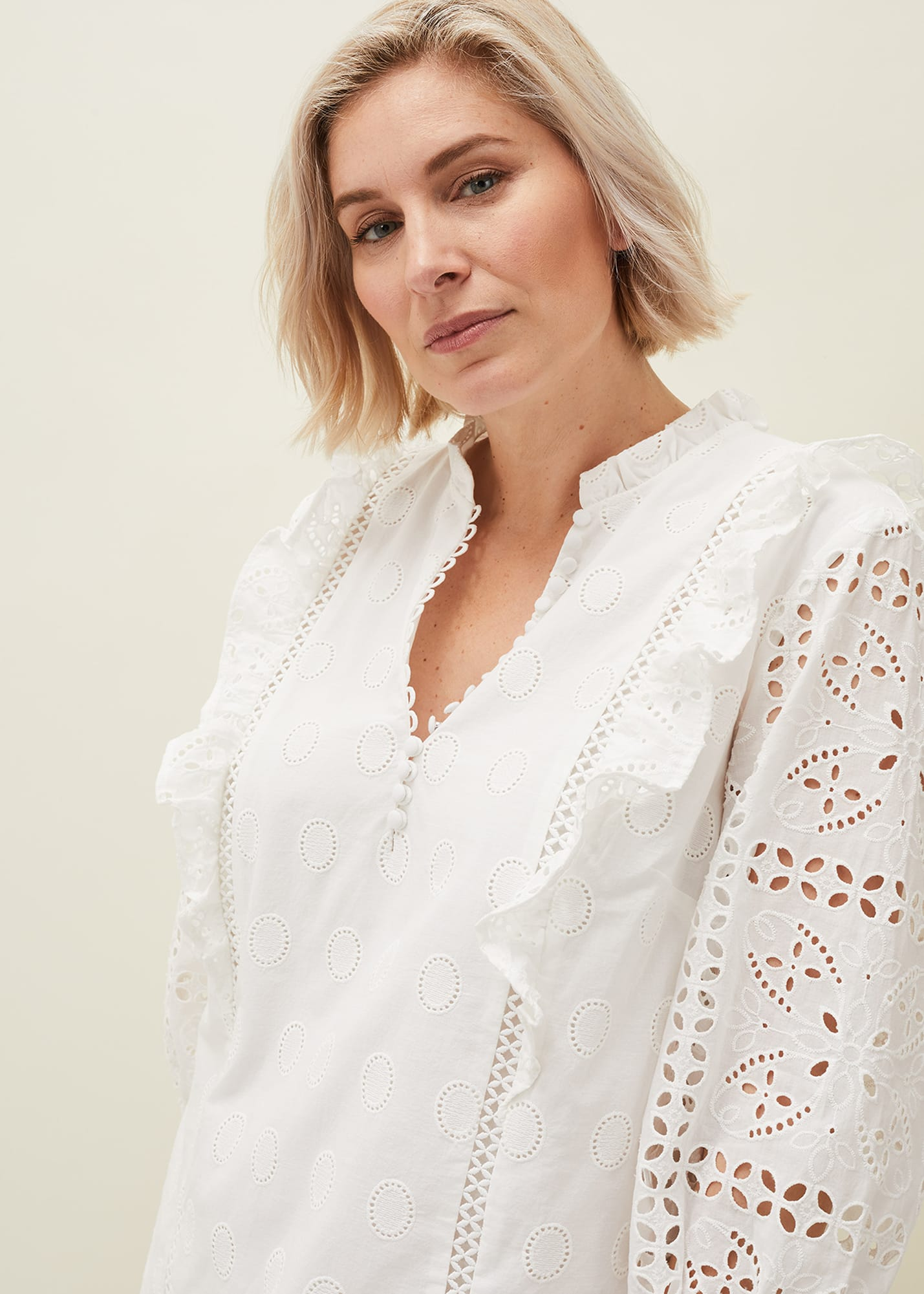 Phase Eight Women Willa Broderie Blouse