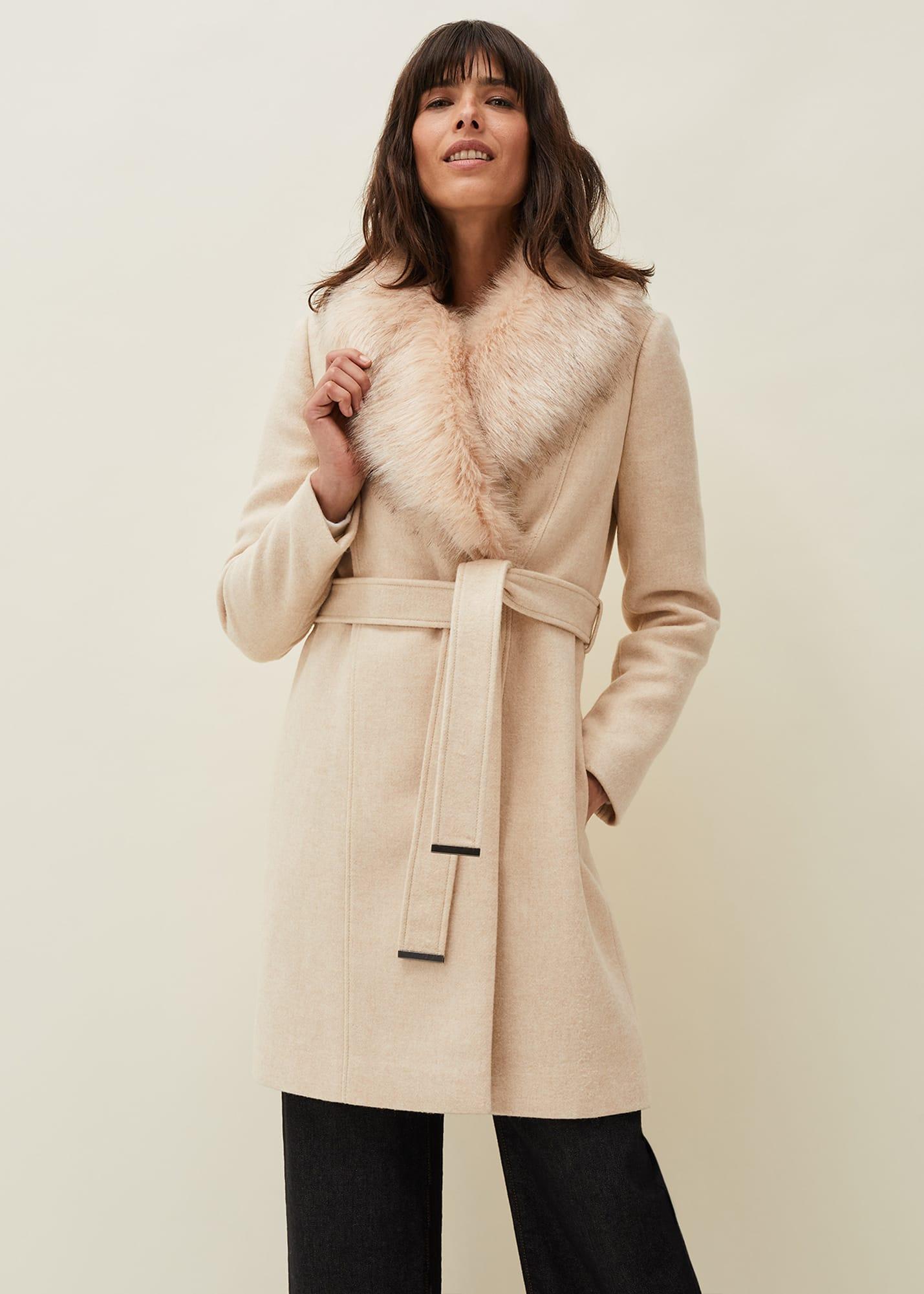Phase Eight Women Nina Fur Collar Coat