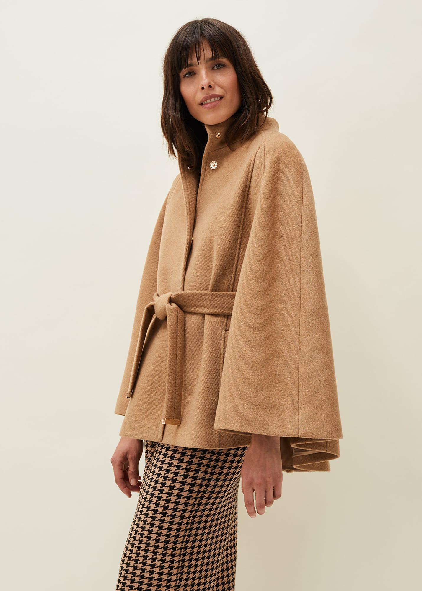 Phase Eight Women Jodie Wool Blend Cape Coat