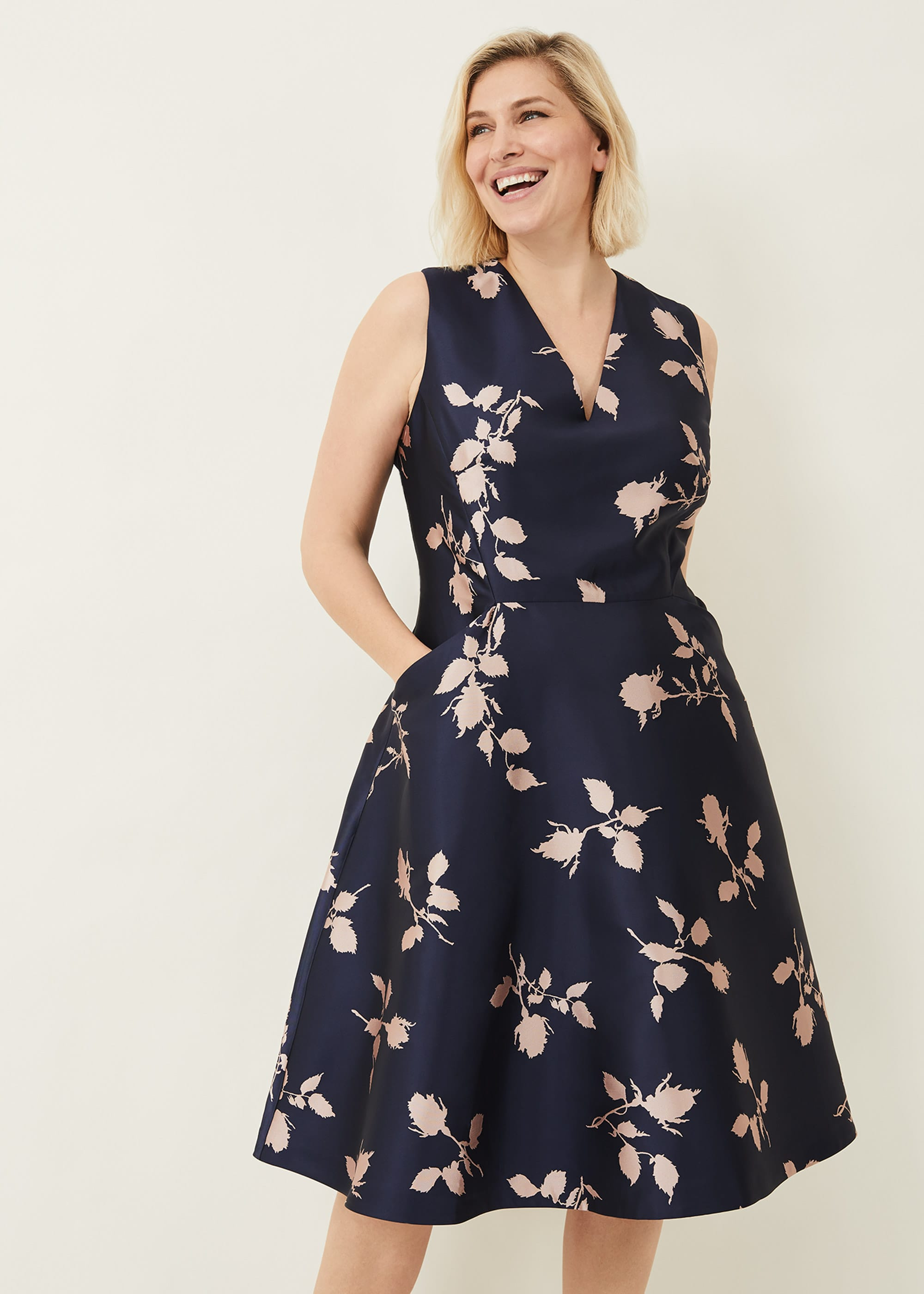 Phase Eight Women Jordyn Jacquard Fit and Flare Dress
