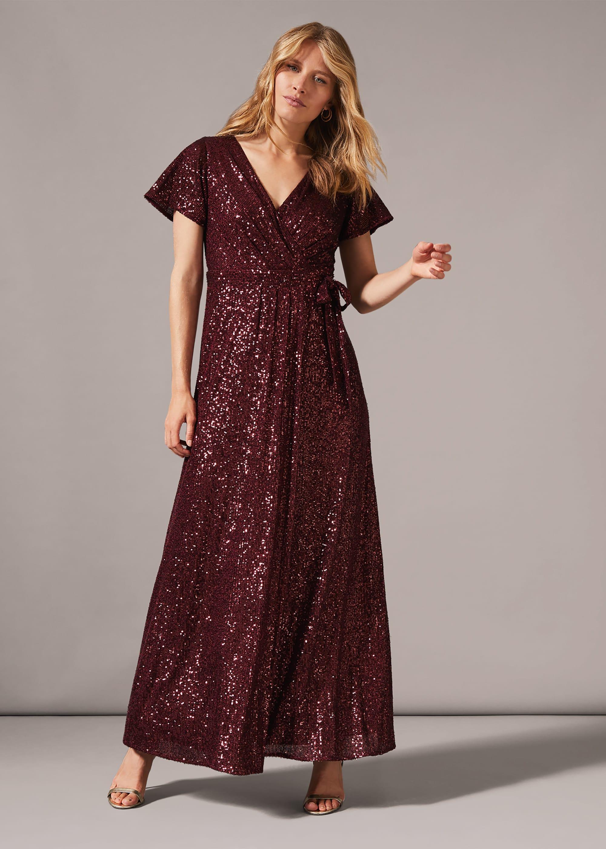 Phase Eight Women Amily Sequin Wrap Dress