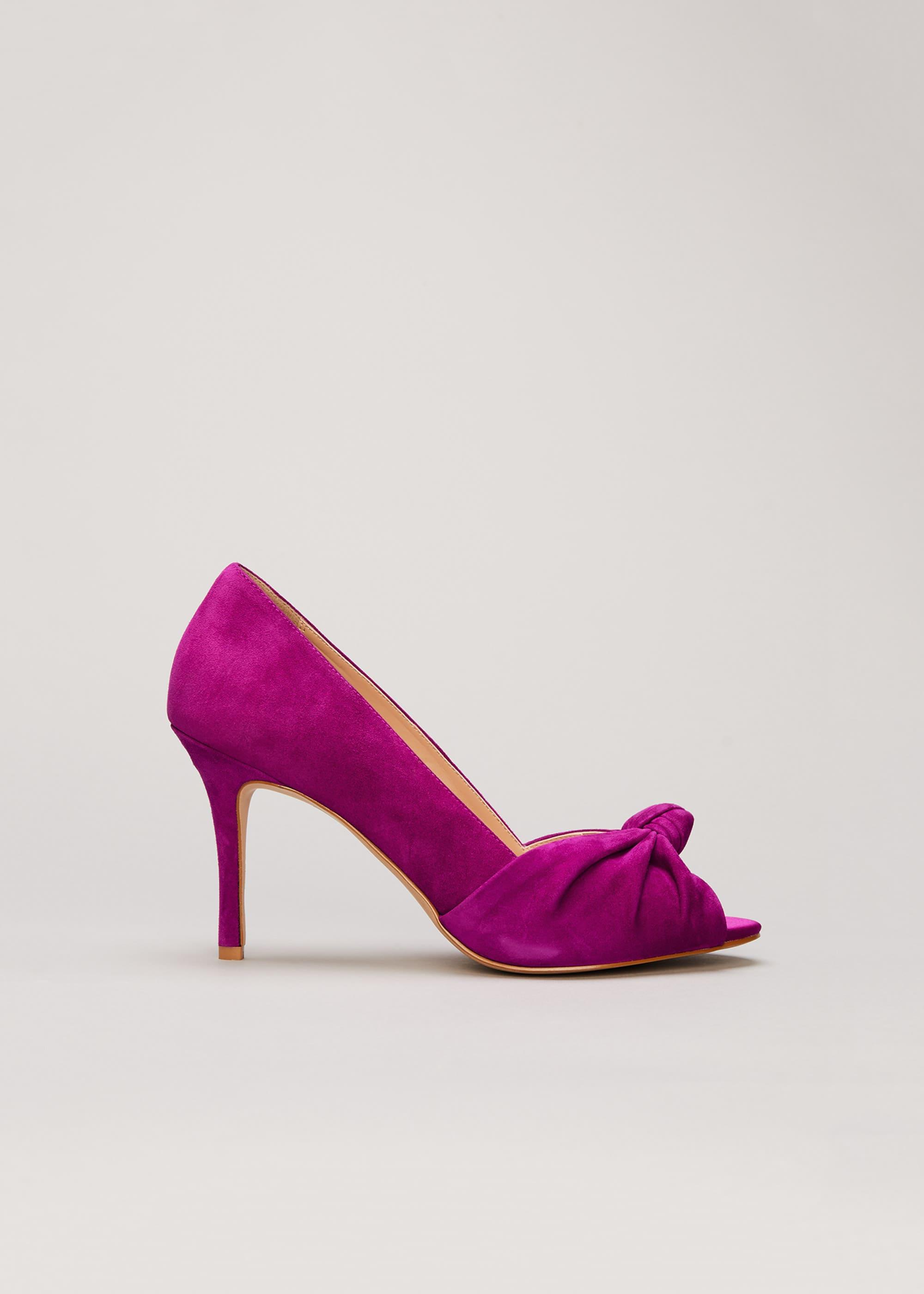 Phase Eight Women Sonja Suede Peep Toe Shoe