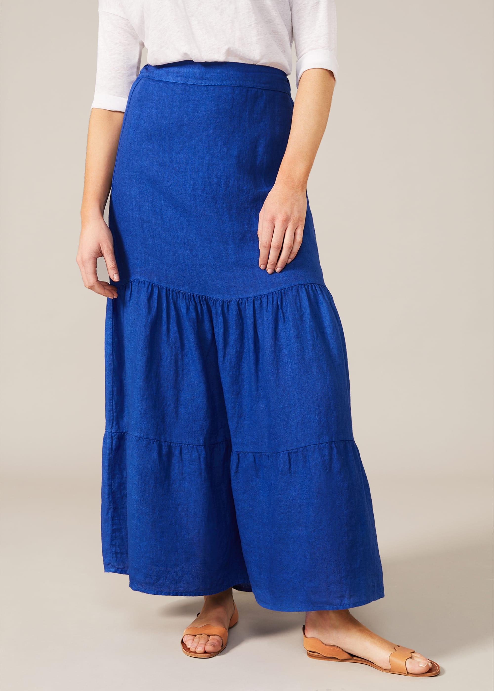 Phase Eight Women Arvinder Linen Tiered Maxi Skirt