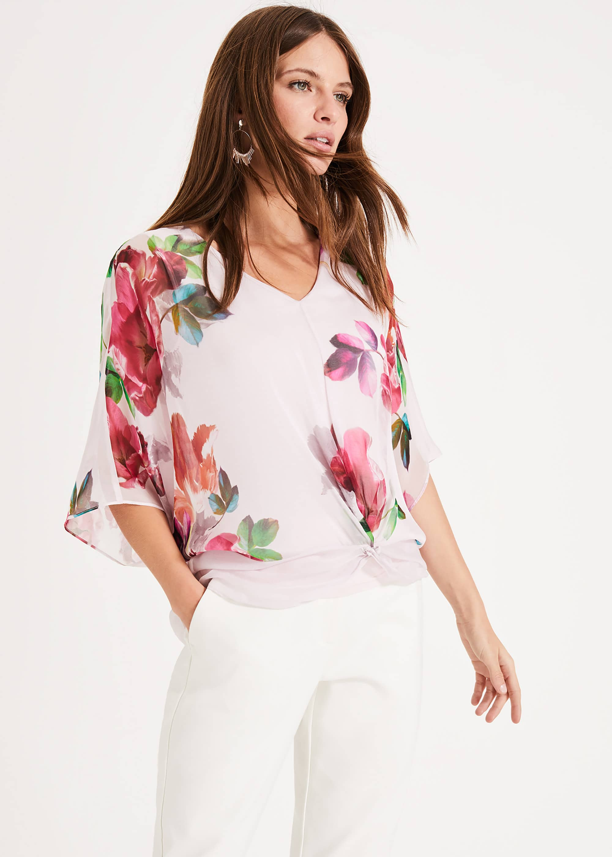 Phase Eight Women Adelle Floral Silk Blouse