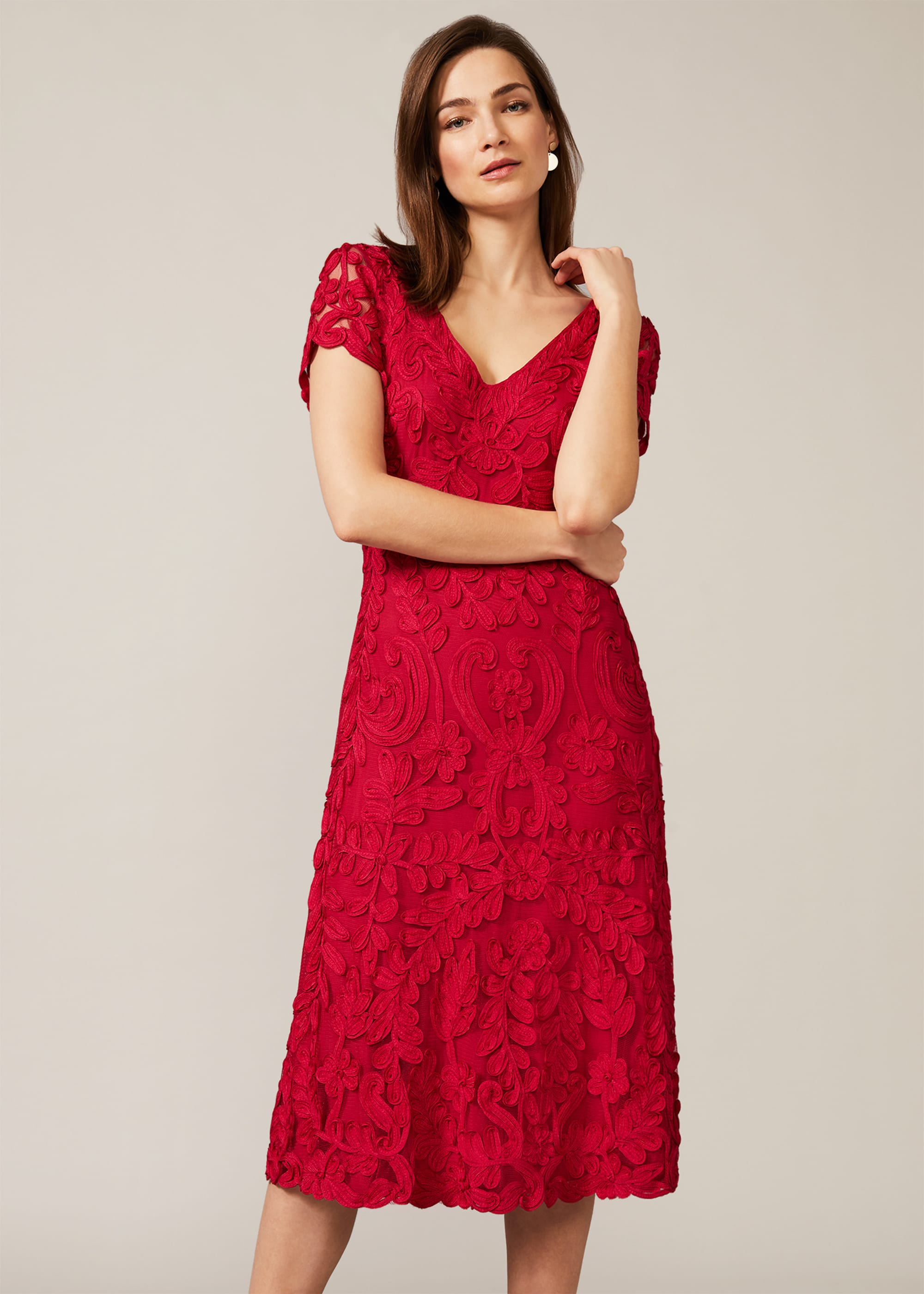 Phase Eight Women Blossom Tapework Lace Dress