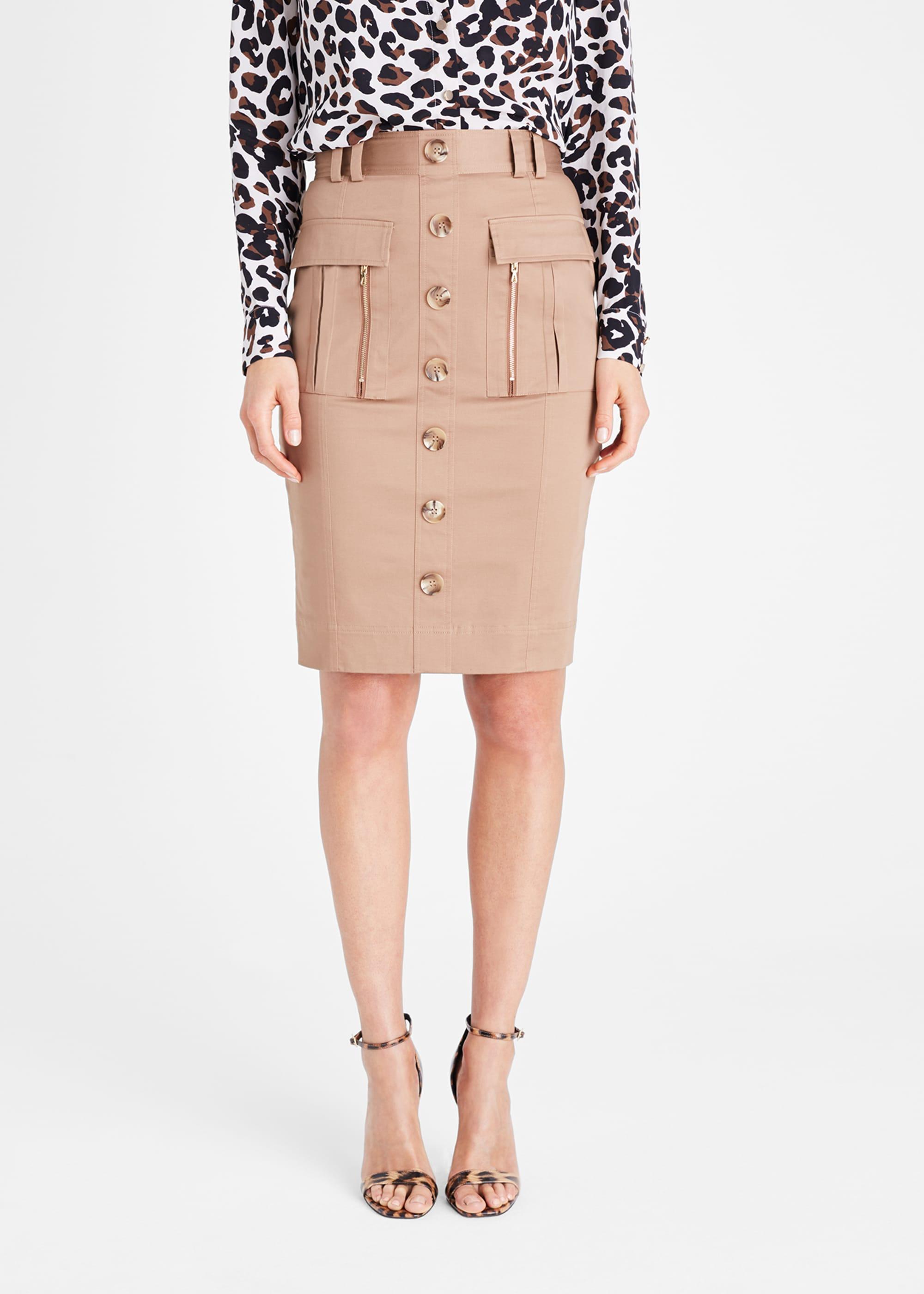 Damsel in a Dress Women Fifi Button Front Skirt
