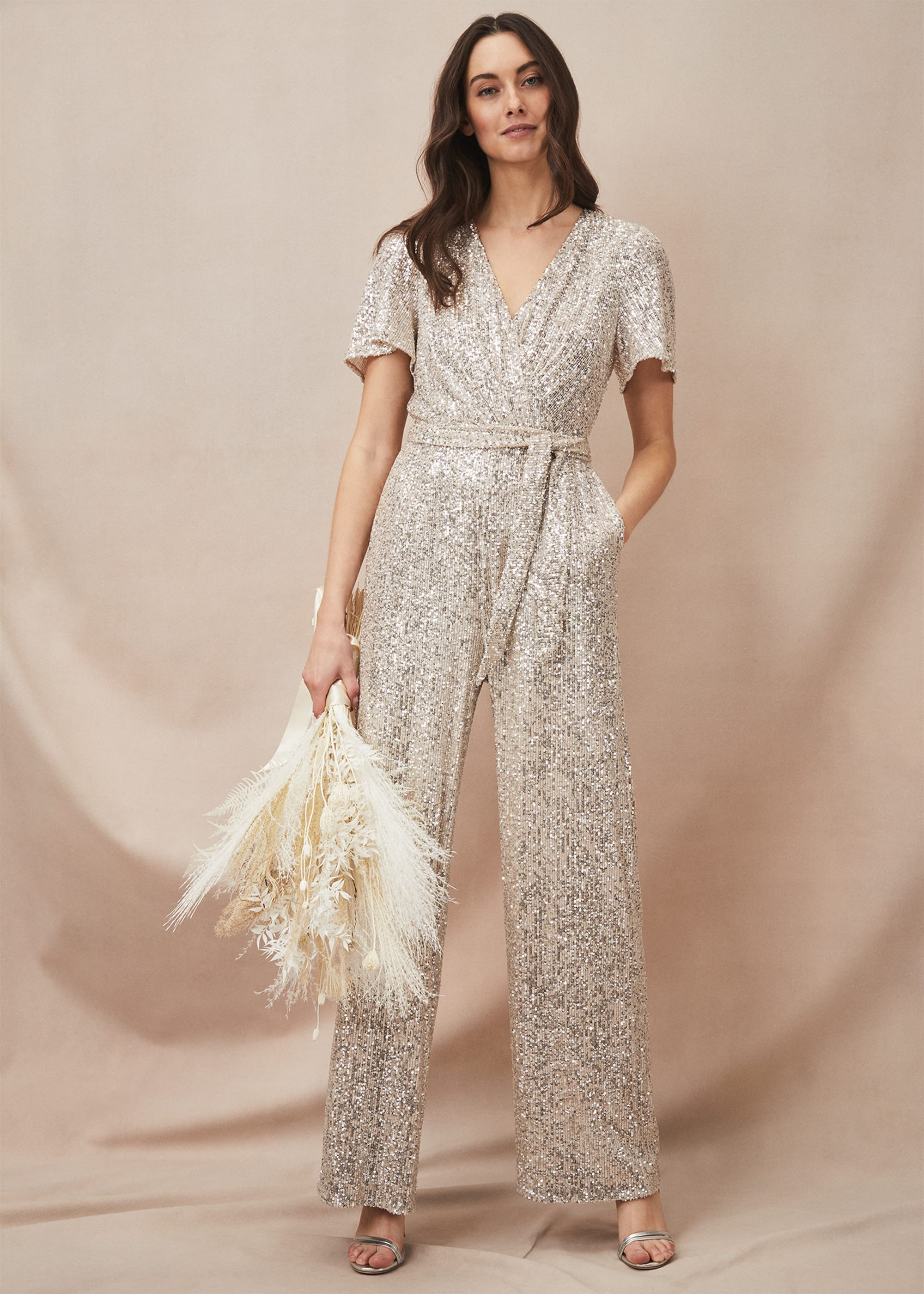 Phase Eight Women Alessandra Sequin Embellished Jumpsuit