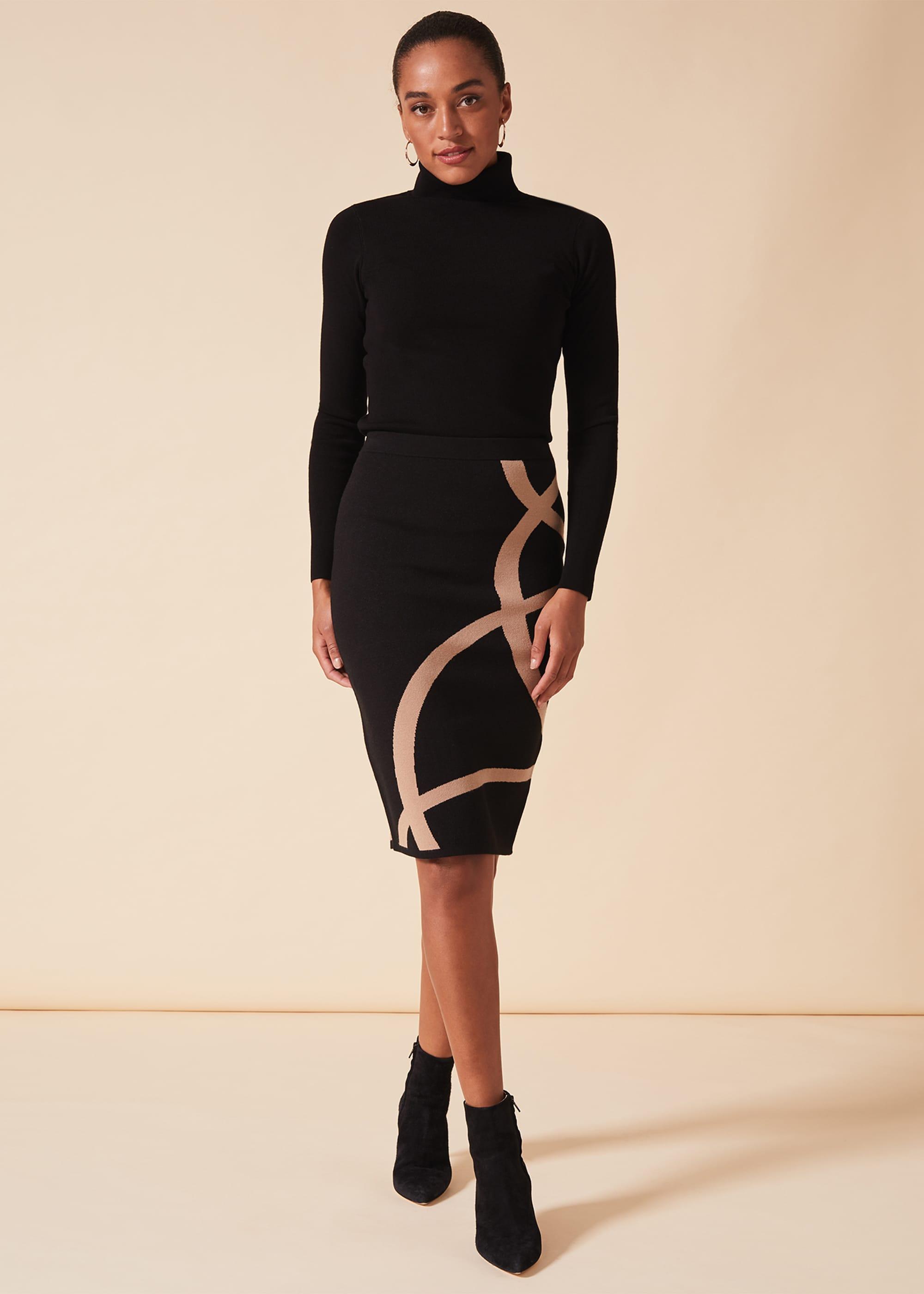 Phase Eight Women Silvia Swirl Detail Skirt