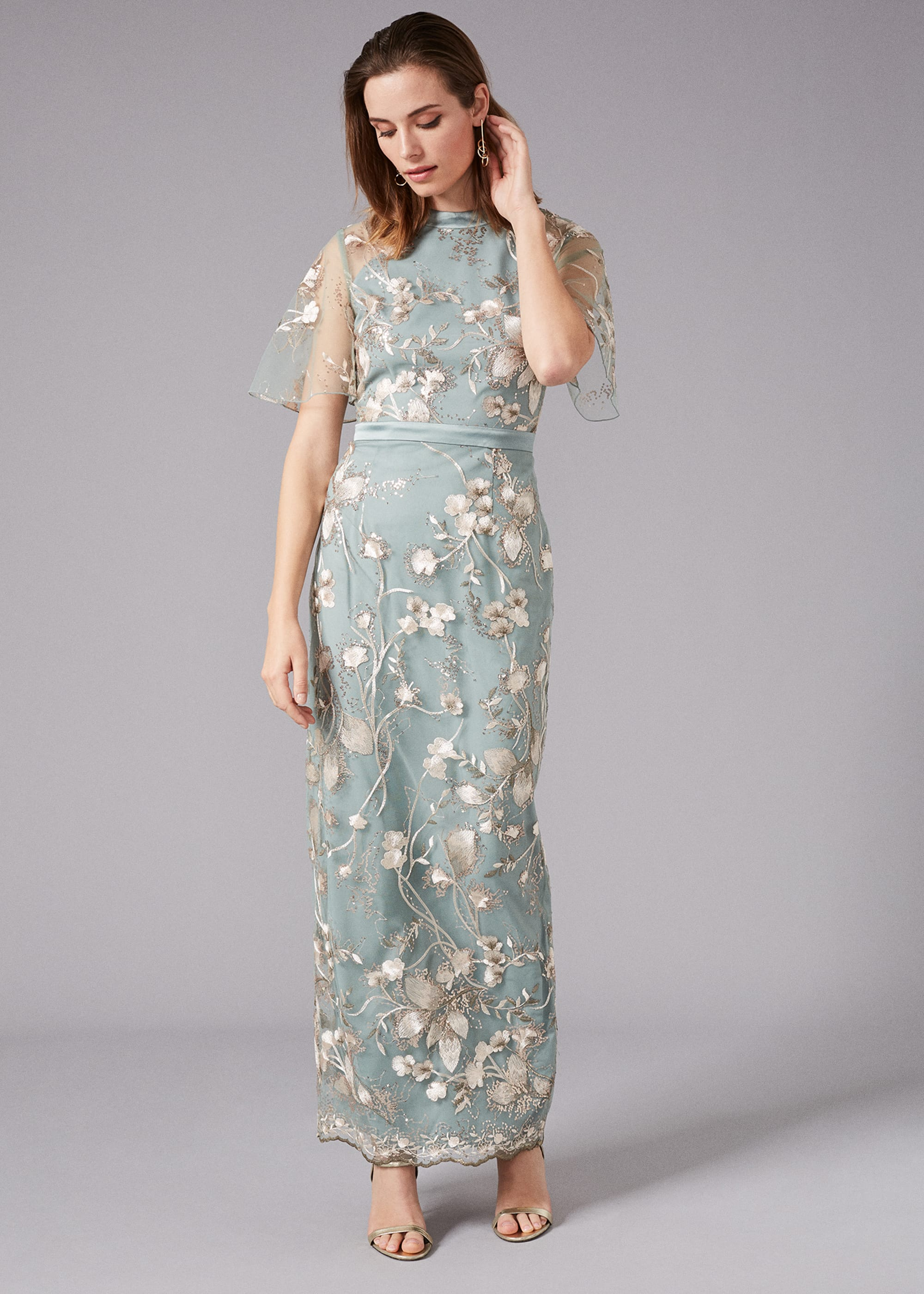Phase Eight Women Glenda Floral Embroidered Maxi Dress