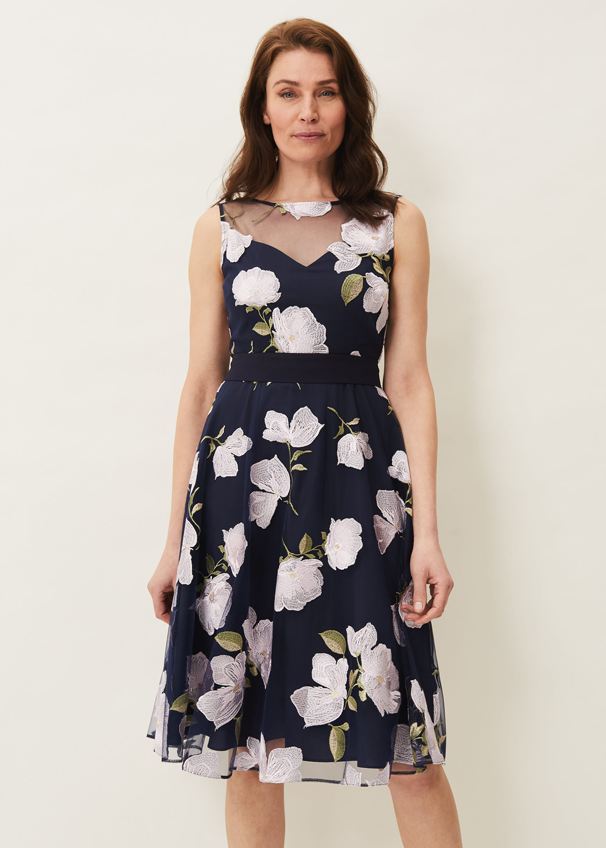 Phase Eight Women Charlotte Floral Embroidered Dress