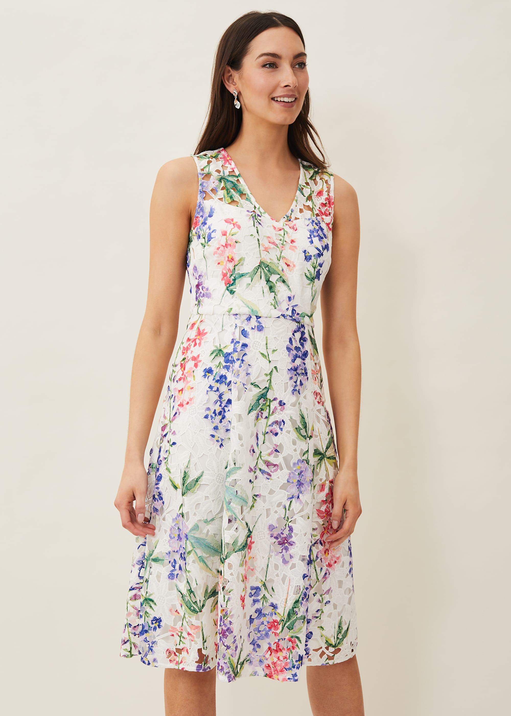 Phase Eight Women Lonnie Floral Fit and Flare Dress
