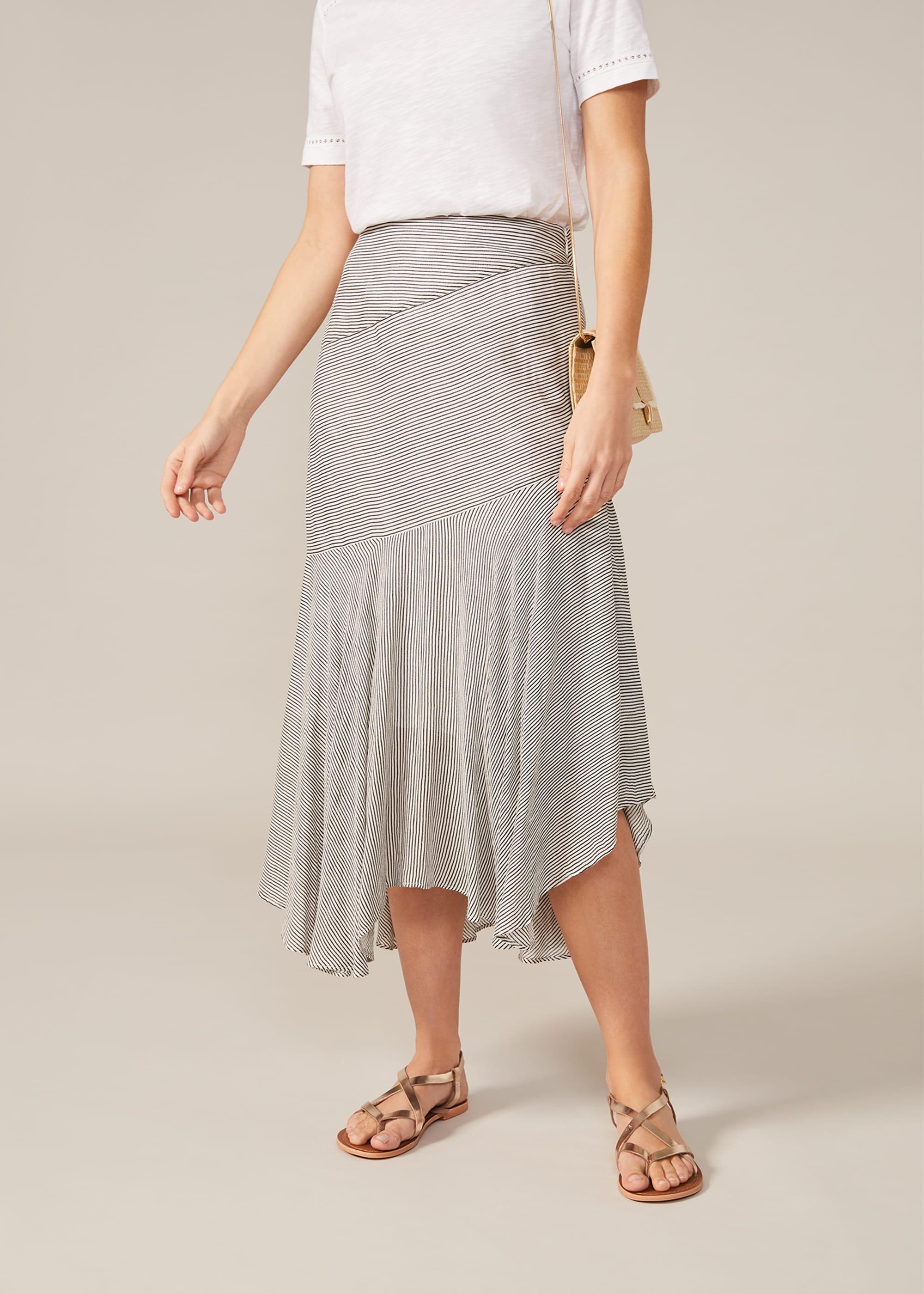Phase Eight Women Tilia Stripe Midi Skirt