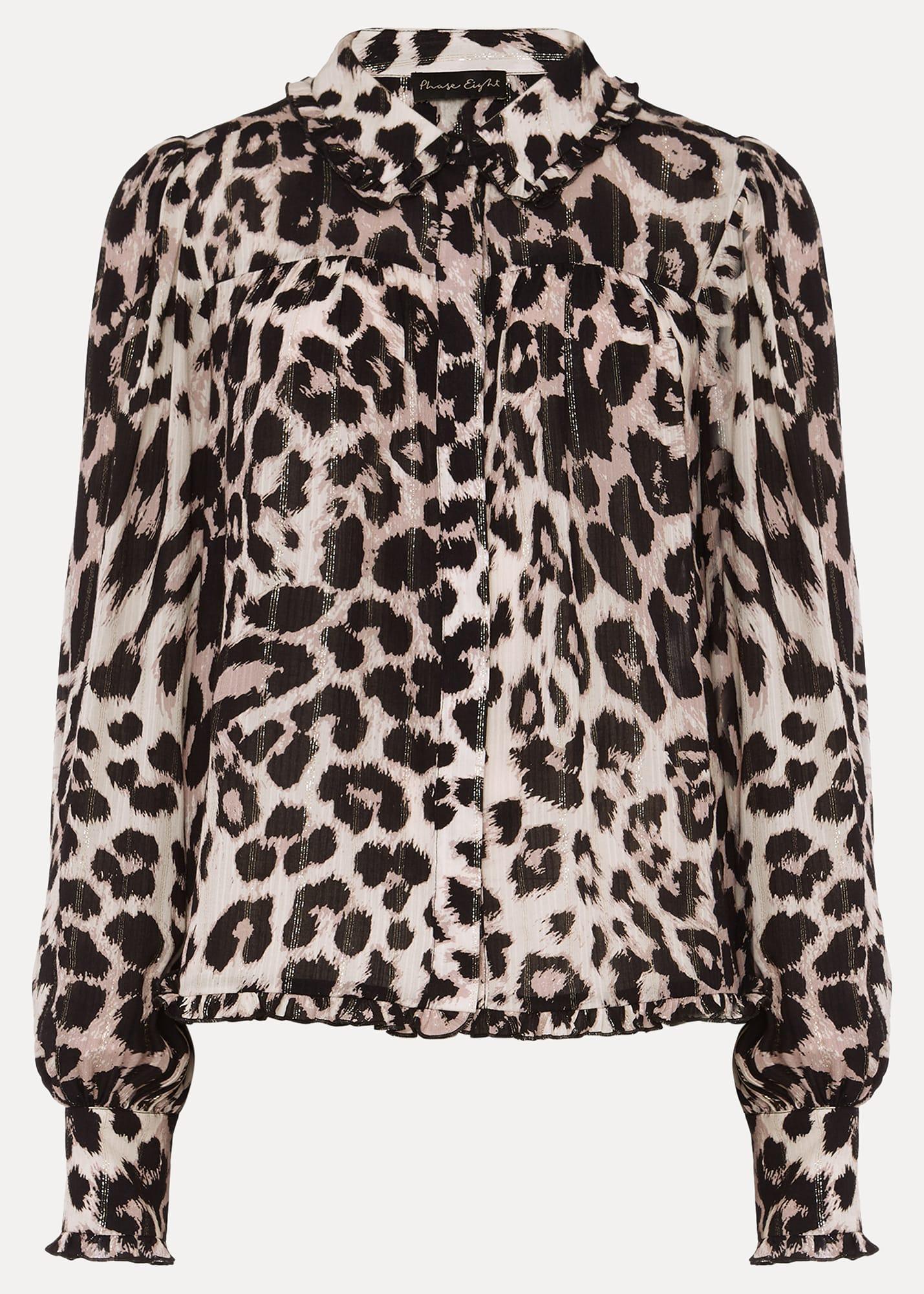Phase Eight Women Chelsie Leopard Print Blouse