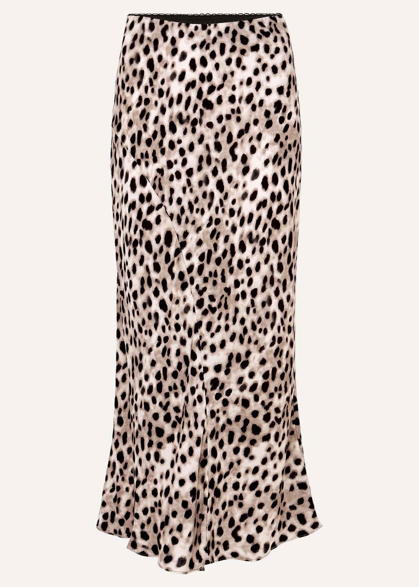 Phase Eight Women Calla Leopard Print Satin Midi Skirt