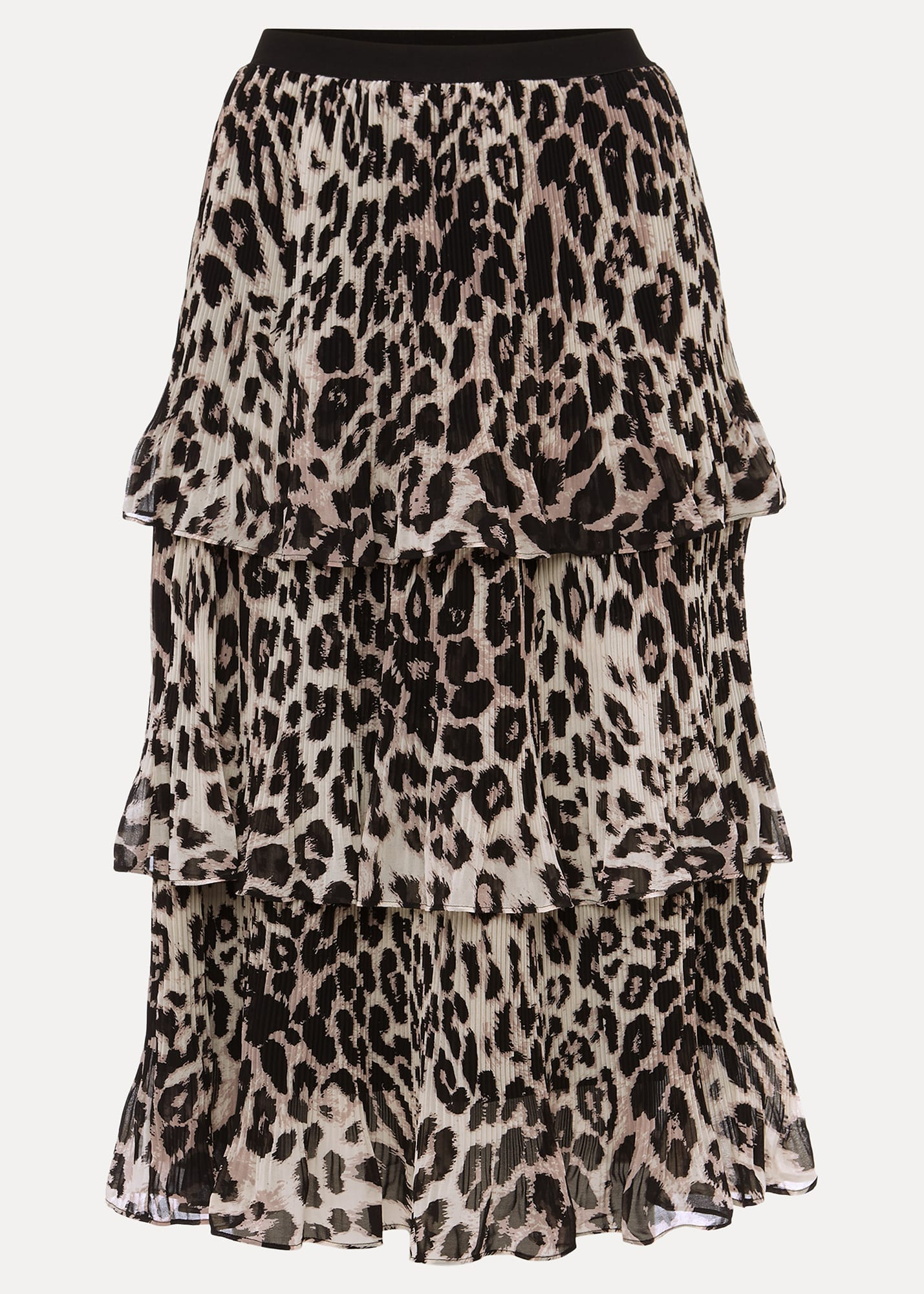 Phase Eight Women Chelsea Leopard Tiered Skirt