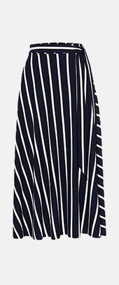 Sallie Stripe Skirt