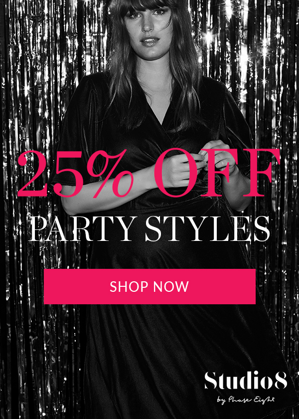 25% off Plus Size Partywear