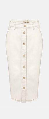 Ellama Denim Midi Skirt
